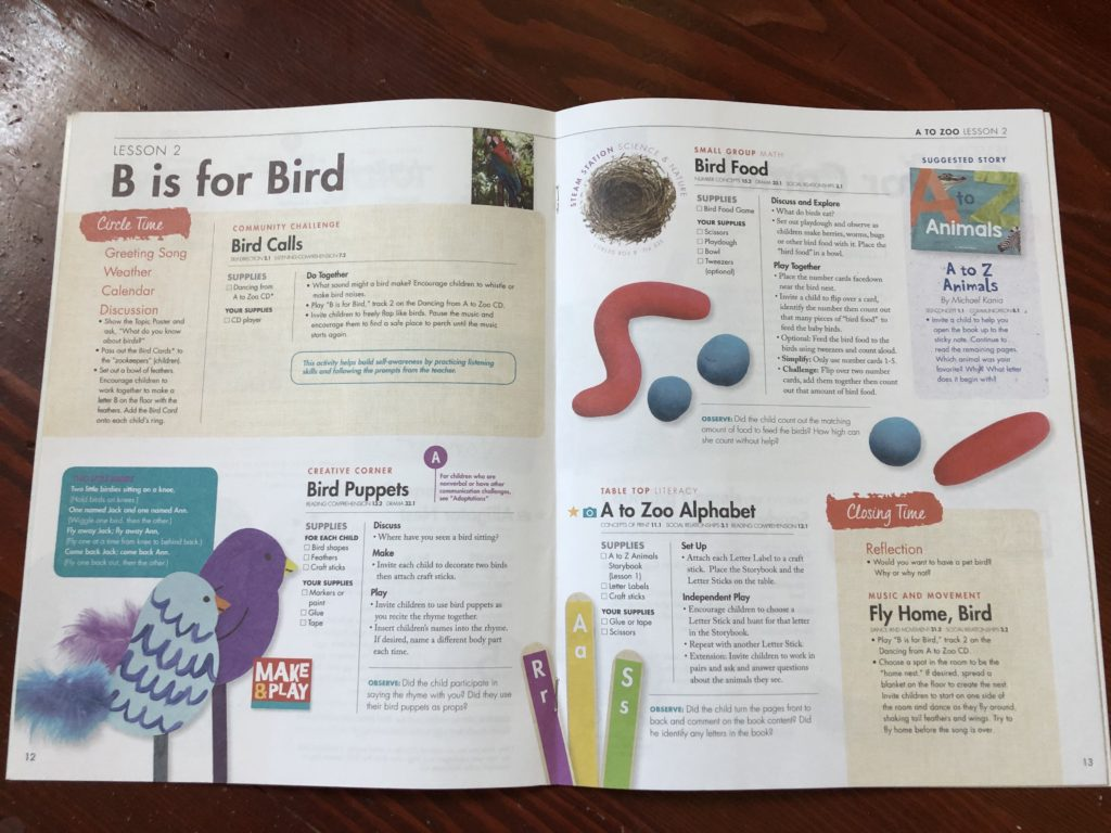 Lesson plans B is for Bird
